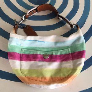 Coach multi stripes small shoulder bag